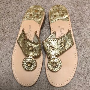 Jack Rogers Gold Sandals. 7. NEW!
